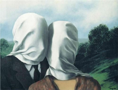 René Magritte - The Lovers [1928] my favourite painting.