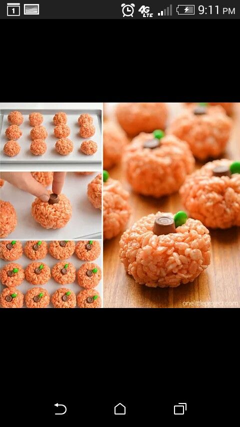 Pumpkin Rice Crispies