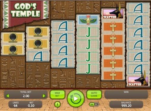 Игровой автомат God's Temple онлайн на деньги  God's Temple – игровой автомат, который может принести невероятные суммы реальных денег. Этот онлайн аппарат пригласит вас в мир Древнего Египта, который скрывает настоящие сокровища фараонов.  Денежные сокровища из Древн�