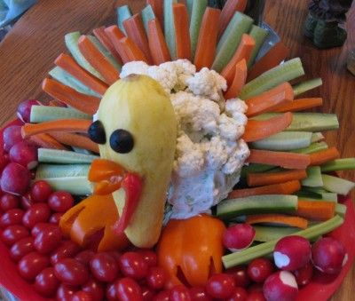 Vegetable Turkeys (and other items you can buy - but these veggie turkeys can be recreated by sight)
