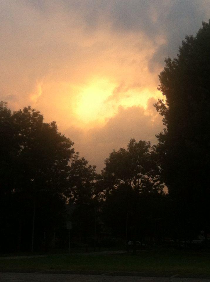Een bewolkte dag