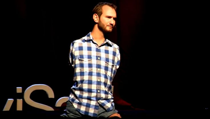 TED Talks: Nick Vujicic – Overcoming hopelessness. Nick Vujicic was born in Australia to a Serbian immigrant family, with a rare disorder characterized by the absence of all four limbs. His life story inspires many people.