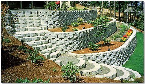 retaining wall step design