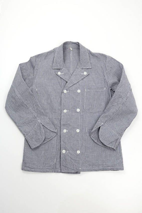 French vintage Chef work jacket/France 1950's/Houndstooth ...