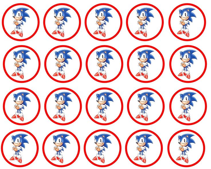 sonic the hedgehog cupcake toppers - free