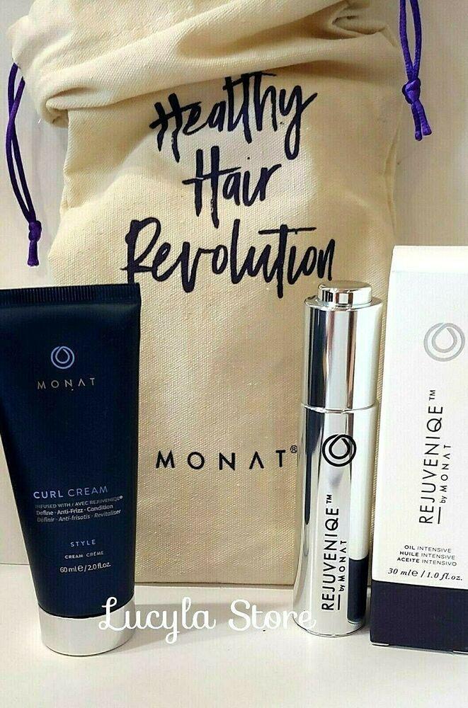 Monat Hair Set Curl Cream Intensive Oil In Box Canvas Bag 3 Pcs Monat Monat Hair Hair Setting Curl Cream