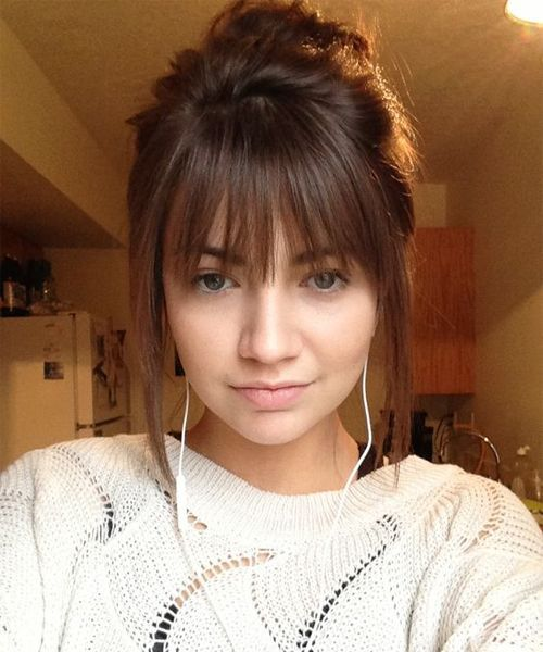 Outstanding 1000 Ideas About Full Fringe Hairstyles On Pinterest Fringe Short Hairstyles Gunalazisus