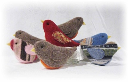 recycled sweater birds