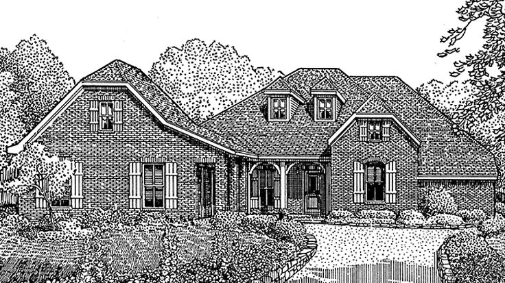 Home Plan Homepw11798 2672 Square Foot 3 Bedroom 3