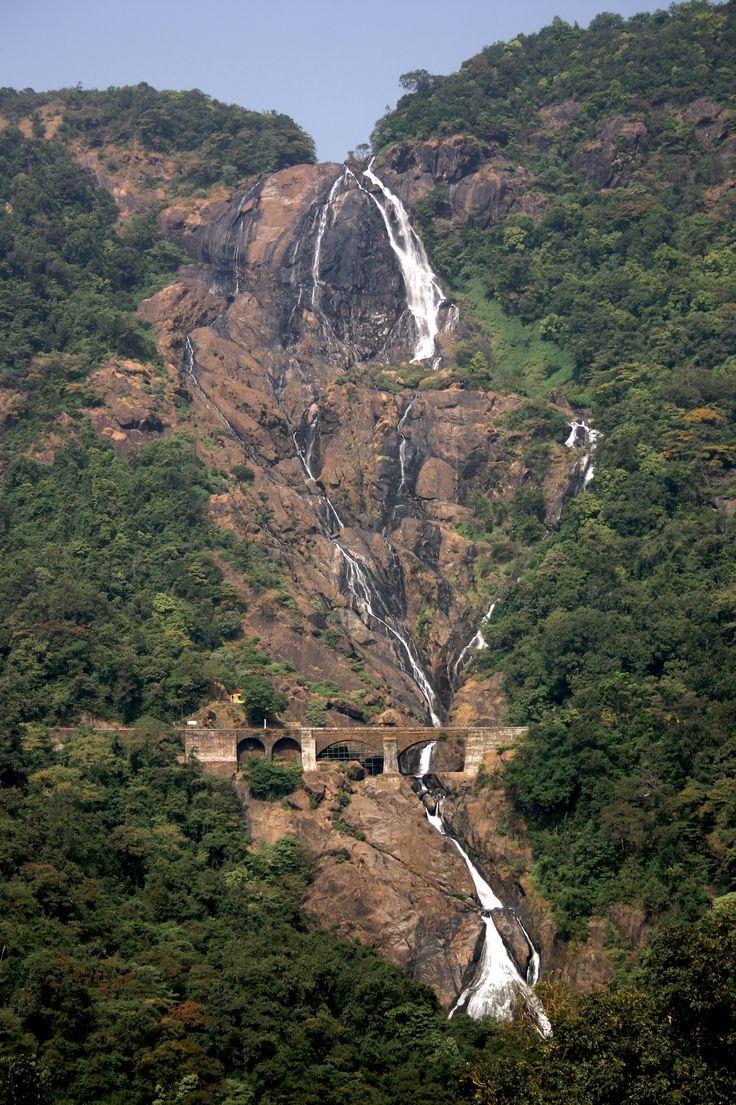 Places to visit in India: Waterfalls in Goa - Dudhsagar Waterfalls