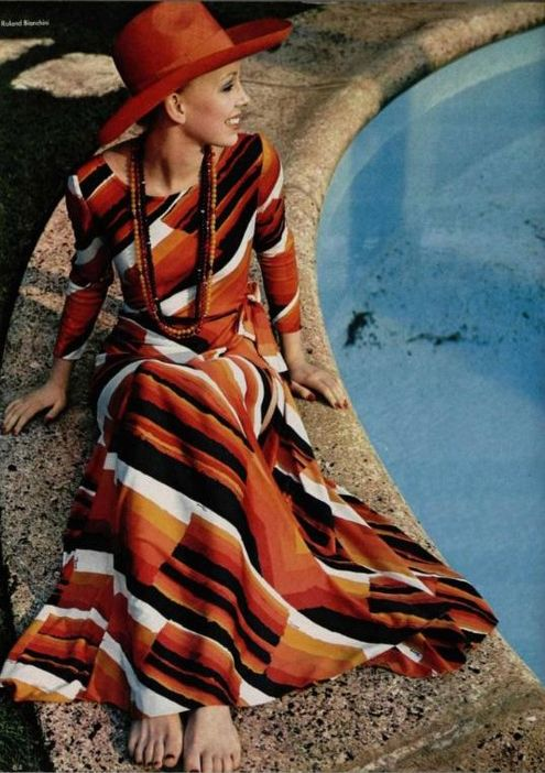 L'Officiel 1970s, maxi dress
