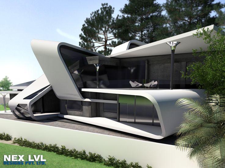 Futuristic Ultra Modern Houses Concrete House Modern