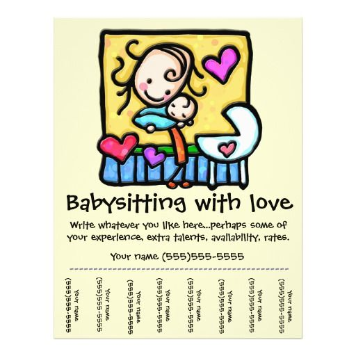 babysitter flyer sample