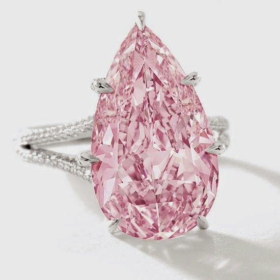 New Record - Most Expensive Vivid Pink Diamond! Sotheby's did it again. Gorgeous 8.41 carat vivid purple pink diamond was sold for $17.7 million dollars making it the most expensive of its kind.