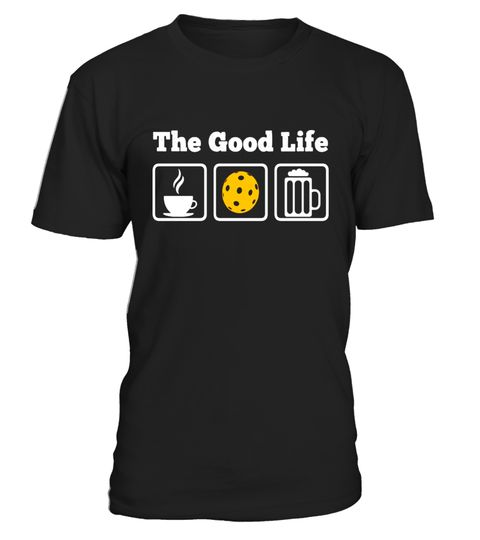 """# Coffee, Pickleball and Beer! The Good life T-Shirt .  Special Offer, not available in shops      Comes in a variety of styles and colours      Buy yours now before it is too late!      Secured payment via Visa / Mastercard / Amex / PayPal      How to place an order            Choose the model from the drop-down menu      Click on """"Buy it now""""      Choose the size and the quantity      Add your delivery address and bank details      And that's it!      Tags: Great Pickleball Tee for all…"""