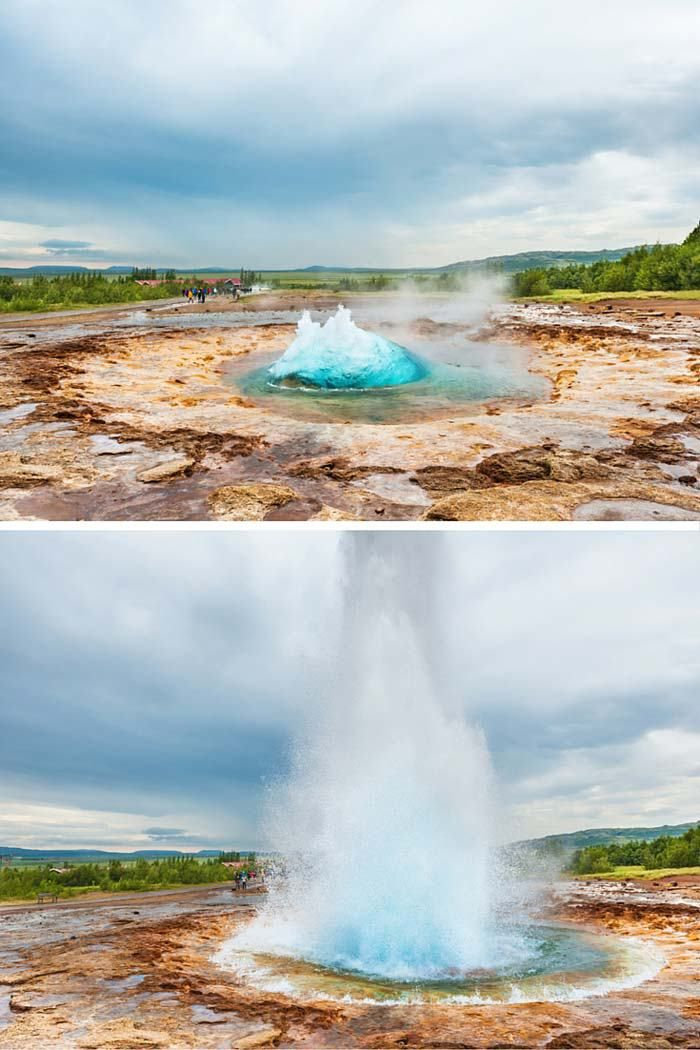 Strokkhur Geysir Don't miss the top 10 things to do in Iceland! Click through to read the whole post!