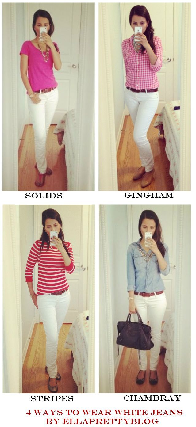 4 Ways to Wear White Denim by Ella Pretty