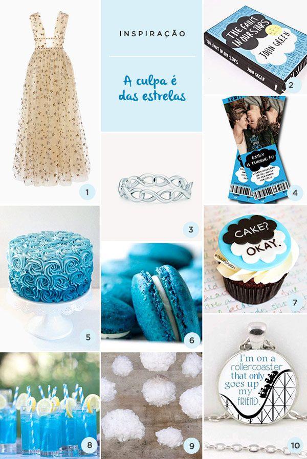 De backdrop a cupcake, veja ideias para festa de 15 anos com o tema A Culpa é das Estrelas.