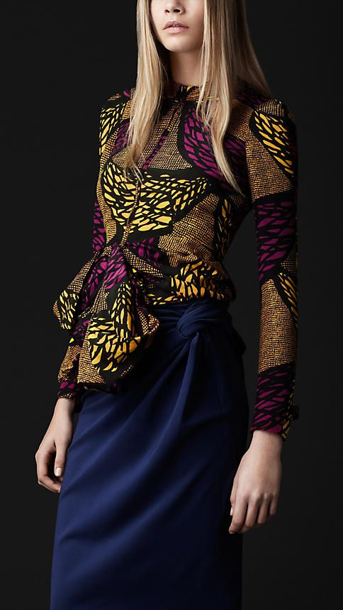 BURBERRY - Eclectic Print Silk Jacket Just love the rich colours