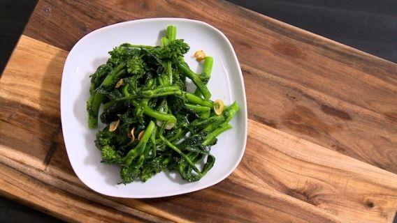 Légumes blanchis à l'ail