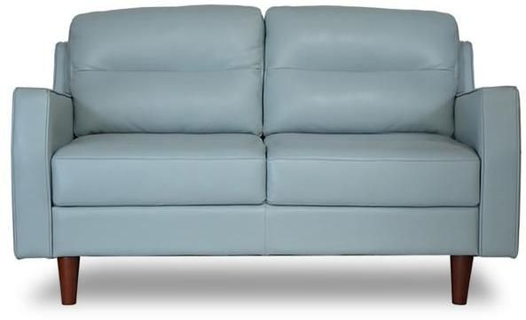 Apt2B Valley Spring Leather Apartment Size Sofa SKY BLUE
