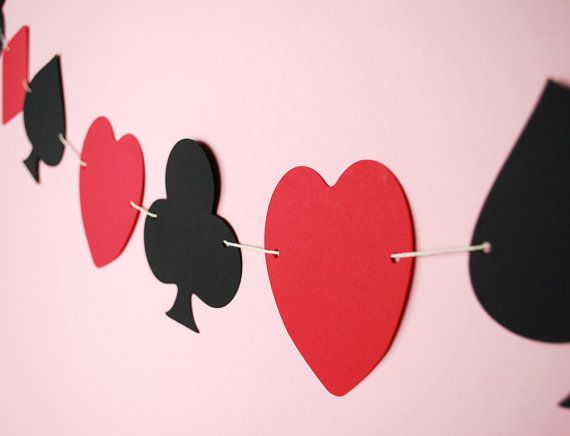 Playing Card Suite Symbols Paper Garland 5 ft. by BluefinWorks, $12.00