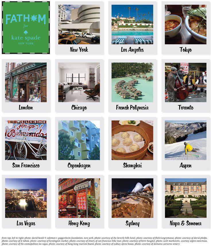 Such a great partnership! Travel meets fashion. <3 | City Guides by Fathom for Kate Spade New York: Explore NYC, L.A., Tokyo, London, Chicago, French Polynesia, Toronto, San Francisco, Copenhagen, Shanghai, Aspen, Las Vegas, Hong Kong, Sydney and Napa & Sonoma.