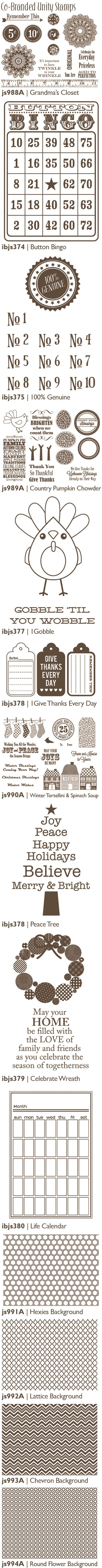 Co-Branded Unity Stamps Summer 2012 by Jillibean Soup (via the Jillibean Soup blog).