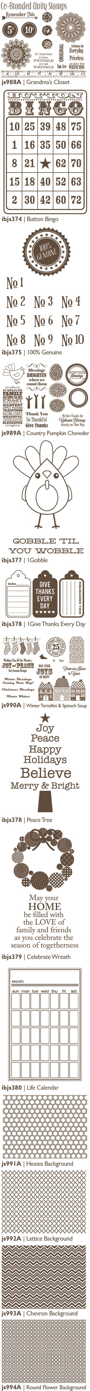 Co-Branded Unity Stamps Summer 2012 by Jillibean Soup (via the Jillibean Soup blog).