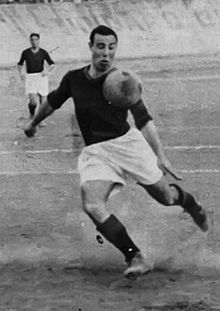 """Enrique Guaita (11 July 1910 – 18 May 1959) commonly known as """"Enrico Guaita"""" was an Italian Argentine footballer who played for both Argentina and Italy as a forward. He won the World Cup in 1934 with Italy.  He played most of his footballing career in Argentina with Estudiantes and Racing Club, but also played in Italy with Roma where he was nicknamed Il Corsaro Nero."""
