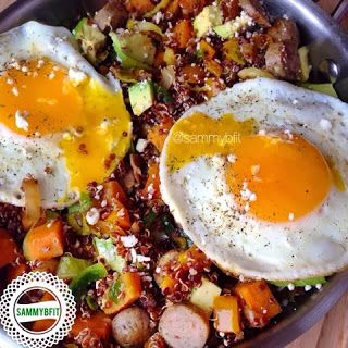 With Peanut Butter on Top: Breakfast Quinoa Sweet Potato Hash