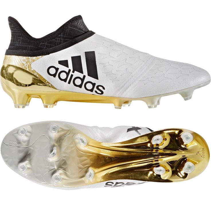 Adidas X Purechaos FG Soccer Cleats (White/Black/Gold Metallic)