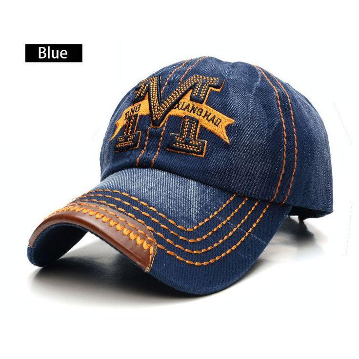 Hot Sale Letter Snapback Cap Fashion Hat Denim Fabric Baseball Caps Bone Hats For Men Women Adjustable Gorras