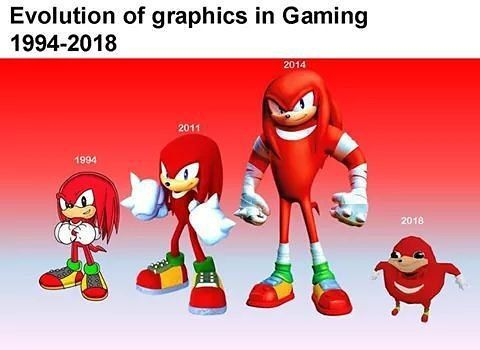 It's a marvel of computing power! #sonic #knuckles #ugandanknuckles #gaming #doyouknowtheway #sega #videogames #3ddesign