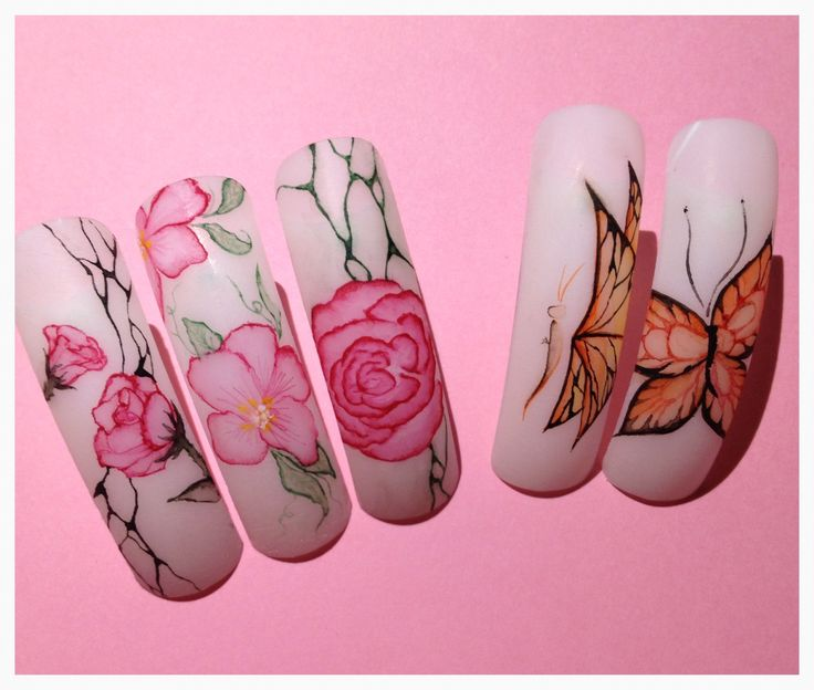 Nail art aQuarelle
