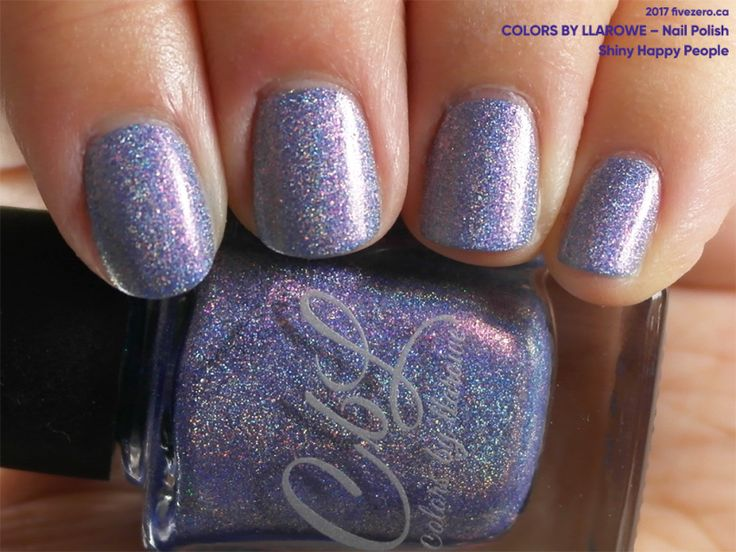 Colors by Llarowe Nail Polish in Shiny Happy People (swatch by fivezero.ca)[purple,holographic]