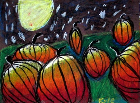 Magic Midnight Pumpkins I love this project and my kiddos love it also!!! they really can see how light works and perspective comes into play.. LOVE it!