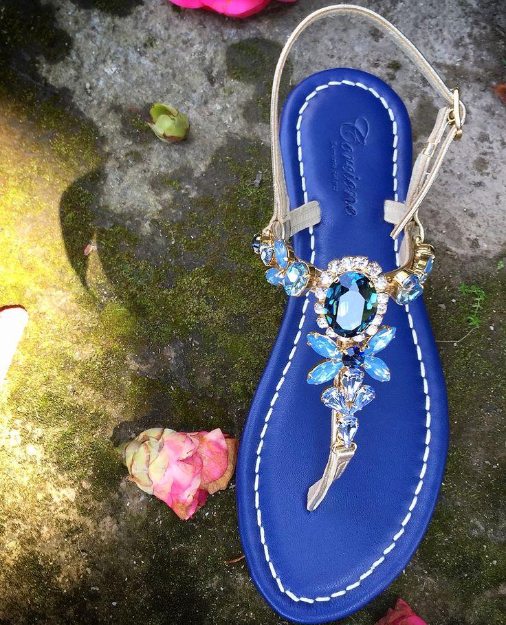 Sandali Positano sandali Capresi Sandali Swarovski sandali gioiello e sandali  fatti a mano