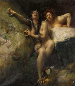 Bredt, Ferdinand, (1868-1921), The Sirens, Oil