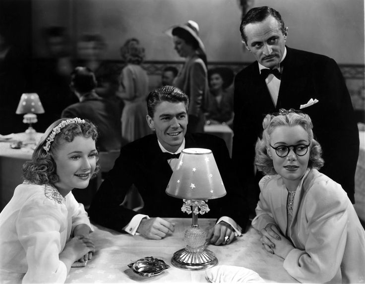 Priscilla Lane, Ronald Reagan, and Jane Wyman - BROTHER RAT AND A BABY