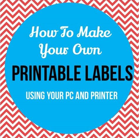 How To Make And Print Labels For Kids
