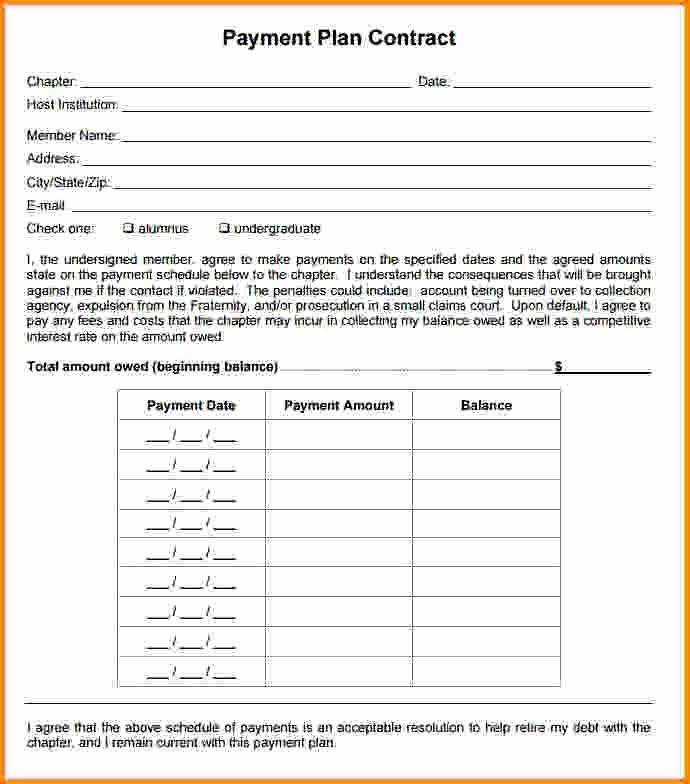 Payment Plan Form Unique Best 25 Payment Agreement Ideas On