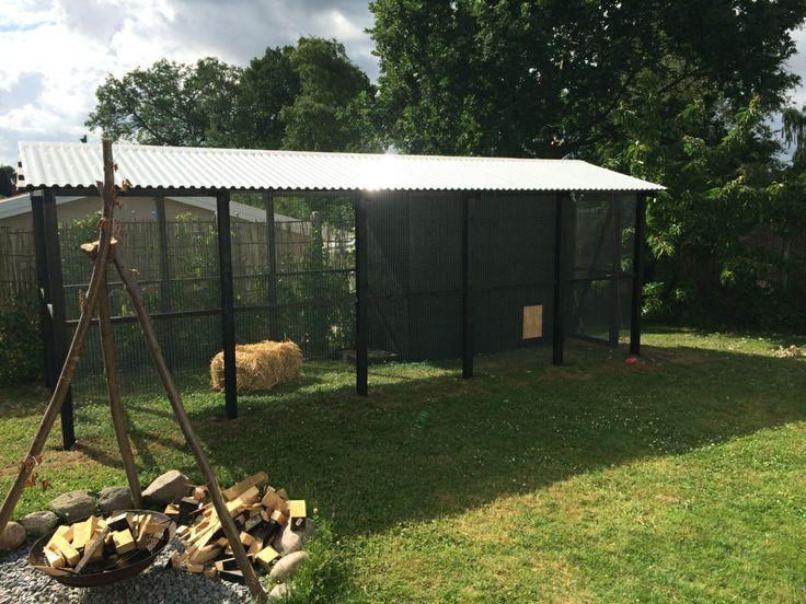 Her er min nye hønsegård