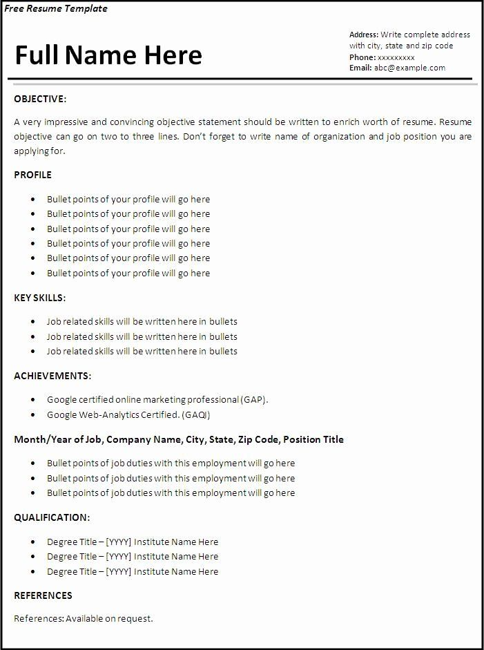 40 First Job Resume Template In 2020 First Job Resume Job