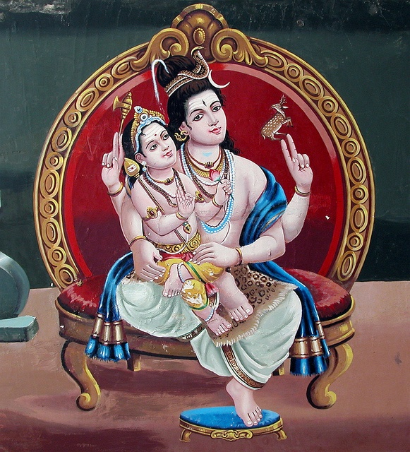Lord Shiva & His Son Skanda by Yoga XTC #hindu #art