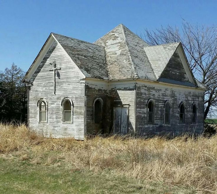 Old Abandoned Church In Oklahoma