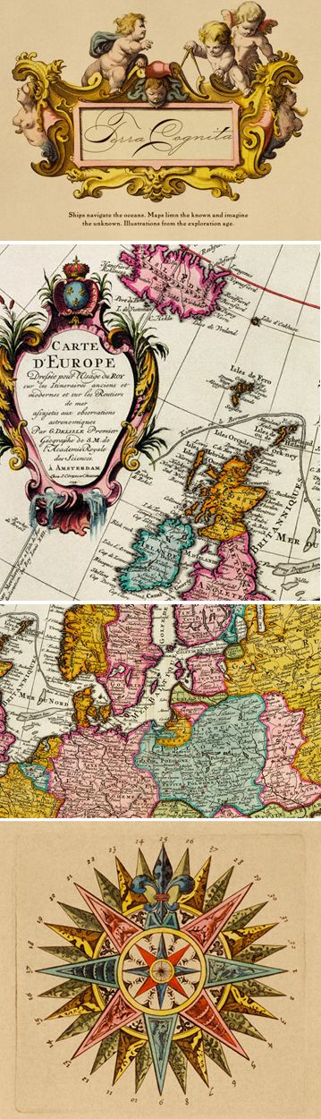 Details from Antique Maps