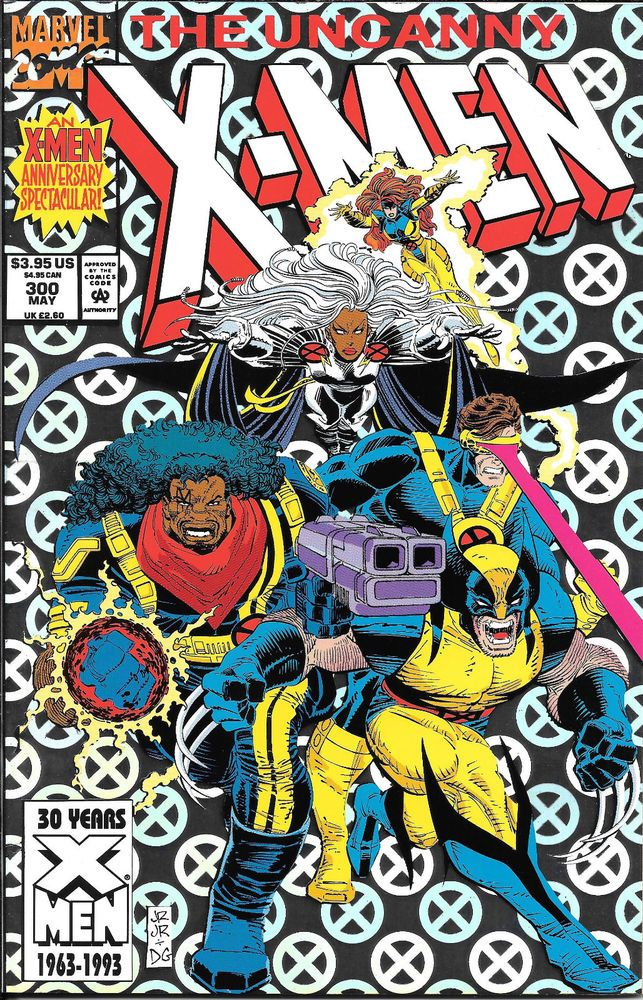 1992 Uncanny X Men 300 Marvel 30th Anniversary Spectacular Foil Cover Wolverine Marvel Comics Covers Marvel Comic Books Comic Book Covers