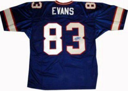Lee Evans Buffalo Bills NFL Autographed Authentic Blue Jersey