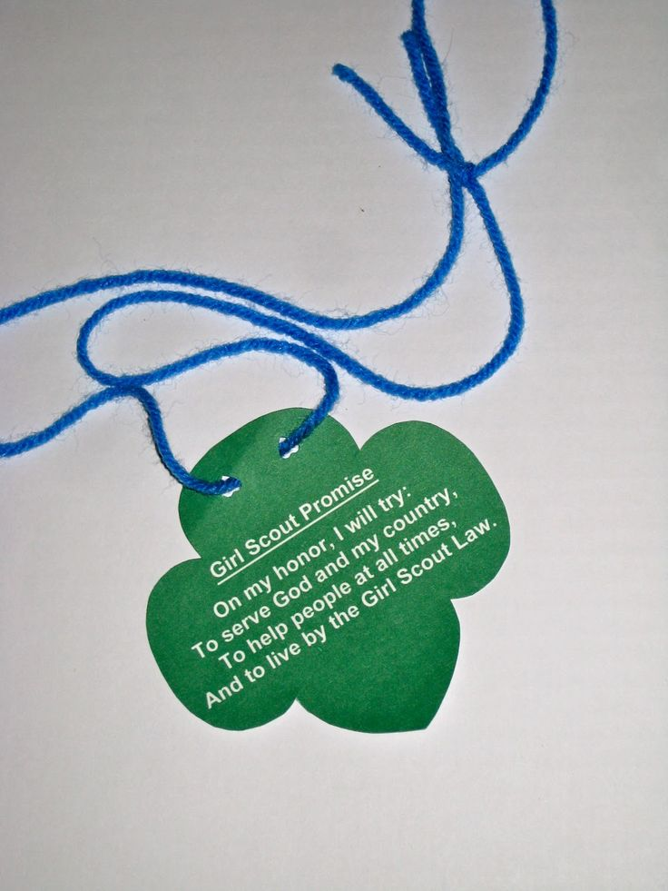 Great ideas for 1st meeting - Troop Leader Mom: Getting Started with Daisy Girl Scouts - We made these simple necklaces with the promise and the hand folded the correct way to help the girls earn their Promise center